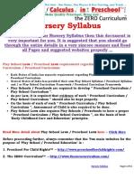 Nursery Syllabus