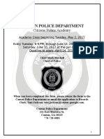 Citizens Police Academy 2017 (Spring) Application