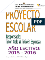 Proyecto Escolar Galo