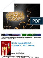 3rd CPD-- On Energy ManagementArjumandsheikh 17-12-2011