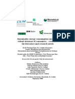 Brohmann Et Al. (2008) - Sustainable Energy Consumption and Individual Decisions of Consumers – Review of the Literature and Research Needs