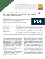 Sweeney Et Al. (2013) - Energy Saving Behaviours - Development of a Practice-based Model