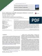 Wang et al. (2014) - Factors influencing sustainable consumption behaviors a survey of.pdf