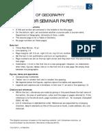 Format for Seminar Paper