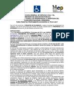 AFICHE CONCURSO N°PD-01-2017