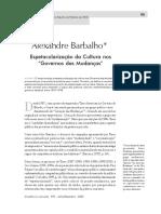 Alexandre Barbalho - Espetacularização das Culturas nos Governos das Mudanças