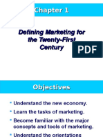 Chapter 01 Defining Marketing for the Twenty-First Century