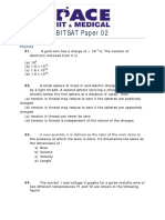 BITSAT Sample Paper 02