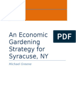 Syracuse economic strategy by Michael Greene