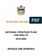 National Strategic Plan for Health - Antigua and Barbuda (29 March 2016)