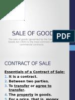 7 Sale of Goods