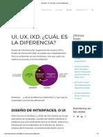UI, UX, IxD_ Cuál es la diferencia_