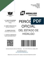 PERIÓDICO OFICIAL DEL ESTADO DE HIDALGO, FE DE ERRATAS