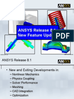 ANSYS 8-1 Release New Features