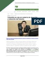 Colombia Se Raja en Materia de Atracción y Retención Del Talento-REVISTA DINERO