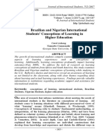 Brazilian and Nigerian International Students' Conceptions of Learning in Higher Education. Carol Ashong and Nannette Commander pp.163-187