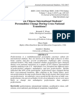 Do Chinese International Students' Personalities Change During Cross-National Transitions? Kenneth T. Wang, Lu Tian, Mayo Fujiki, Ripley-Ohio- Dearborn, Jennifer J. Bordon pp. 229-245