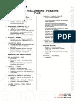 Jati CA Conte Dos Provas Mensais 1 Bimestre - 7 Ano - Jati CA