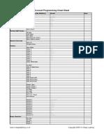 Programming Sheet