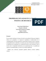 Propiedad e Igualdad, Rousseau, Carlos Portillo (Parametrizado)