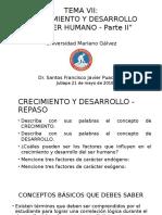 Biologia Humana - Dr. Santos Puac - Crecimiento y Desarrollo Clase 2 - Continnuacion