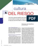3.- La Cultura Del Riesgo