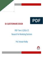 RMD_S8 Questionnaire Design