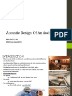 Lecture 4- Auditorium Design & Sound Reinforcement Mansha
