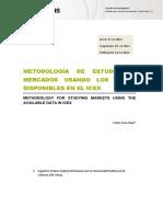 Metodlogía de Estudios de Mercado