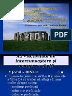 Tipuri de Comportamente În Mediul Şcolar-Geta Raduta, 26.03.2009