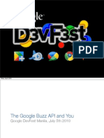 DevFest Manila - The Google Buzz API and You