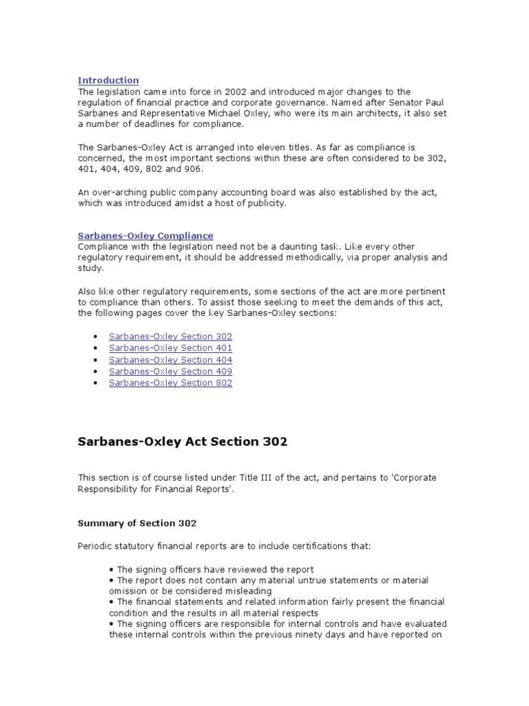 Faith Sarbanesoxley Act Audit
