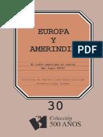Europa y Amerindia El Indio Americano en Textos Del Siglo XVIII Completo