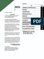 1st Gen Mazda3 Mazdaspeed3 Workshop Manual