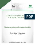 Presentación Inspección y Pruebas UVM-CFE SII