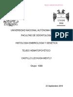 Trabajo Final Hematopoyesis
