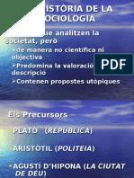PRESENTACION HISTORIA DE LA SOCIOLOGIA