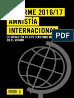 Informe Anual 2016/17 - Amnistía Internacional
