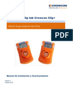 Crowcon Clip and Clip+ User Manual Iss 3 Feb 15 Spanish