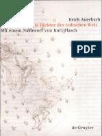 Erich Auerbach Dante Als Dichter Der Irdischen Welt