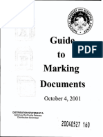 National Imagery and Mapping Agency Guide to Marking Documents (2001)