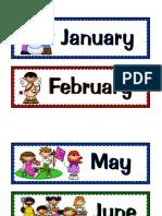 Calendar_bulletin Board Cards