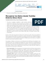 Recuperar Datos de Disco Duro Externo Toshiba _ Duro Externo Toshiba Conducir Recuperación