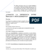 Diferencias Entre Proceso y Procedimientos