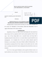 Memorandum of Law in Support of Section 2-619.1 Motion to Dismiss Plaint...