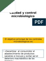 Calidad y Control Microbiológico