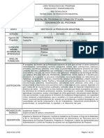 Programa de Formación Produccion Industrial