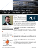 10 Things to Know About Strategic Mine Planning for Open Pits