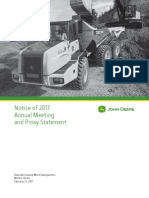Deere 2017 Proxy Statement