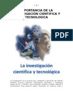 Importancia de La Investigación Cientifica y Tecnologica